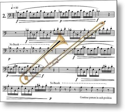 The Trombone Metal Print