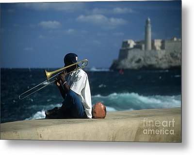 The Trombonist Metal Print by James Brunker