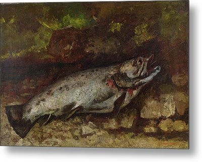 The Trout, 1873  Metal Print by Gustave Courbet