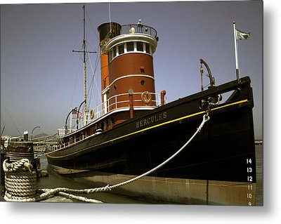 Metal Print featuring the photograph The Tug Boat Hercules by William Havle