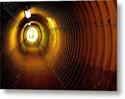 The Tunnel Metal Print by Theresa Tahara