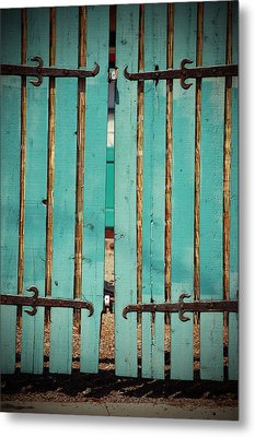 The Turquoise Gate Metal Print