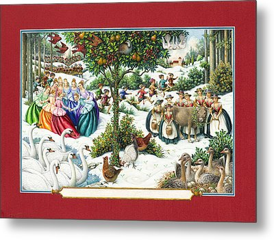 The Twelve Days Of Christmas Metal Print by Lynn Bywaters