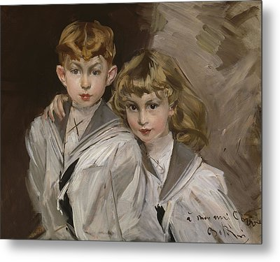The Two Children Metal Print by Giovanni Boldini