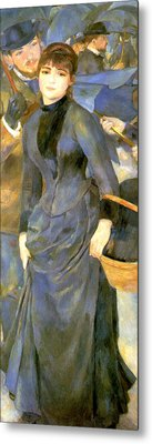 The Umbrellas Details Metal Print by Pierre Auguste Renoir