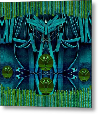 The Under Water Temple Metal Print by Pepita Selles