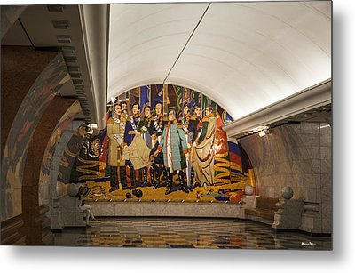 The Underground 2 - Victory Park Metro - Moscow Metal Print by Madeline Ellis