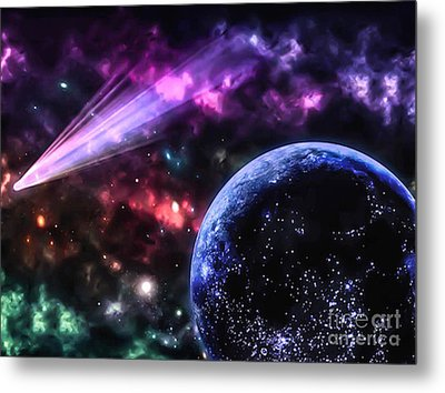 The Undiscovered Planet  Metal Print by Naomi Burgess