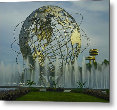 The Unisphere Metal Print by Theodore Jones