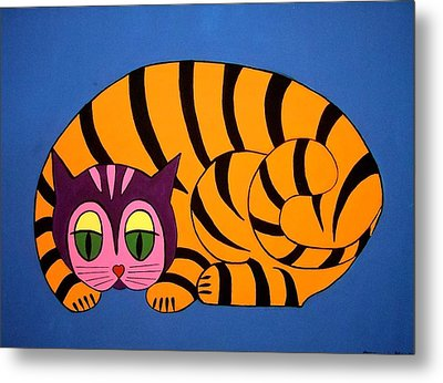 The Unity Cat Metal Print by Stephanie Moore