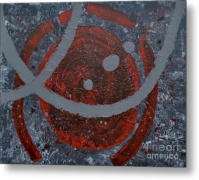 The Universe Abstract Art By Saribelle Rodriguez Metal Print by Saribelle Rodriguez