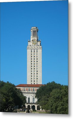 The University Of Texas Tower Metal Print by Connie Fox