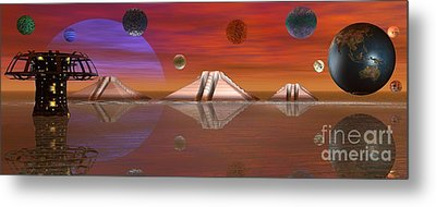 Metal Print featuring the digital art The Unknown by Jacqueline Lloyd