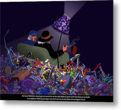 Metal Print featuring the digital art The Unraveling by Tom Dickson