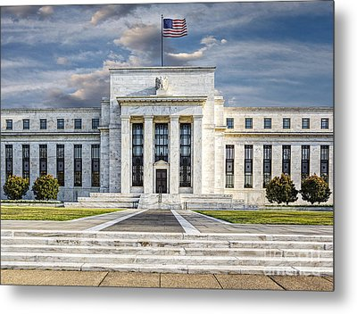 The Us Federal Reserve Board Building Metal Print by Susan Candelario