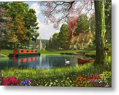 The Valley Cottage Variant 1 Metal Print