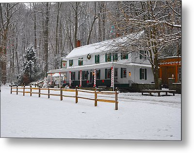 The Valley Green Inn In The Snow Metal Print