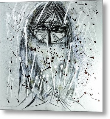 The Veiled Woman Metal Print