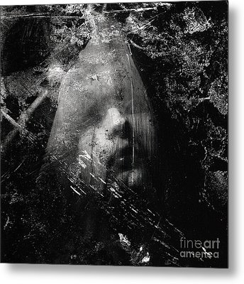 The Veiled Woman Metal Print by Sharon Coty