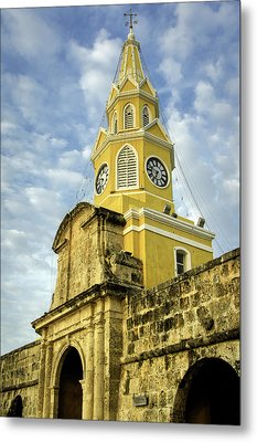 The Venerable Clock Tower, Torre Del Metal Print by Jerry Ginsberg