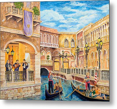 The Venetian Canal  Metal Print by Vicki  Housel