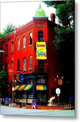 The Venice Cafe' Edited Metal Print by Kelly Awad