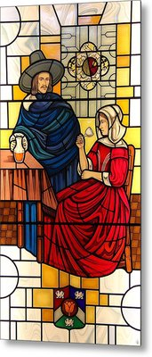 Metal Print featuring the glass art The Vermeer by Gilroy Stained Glass