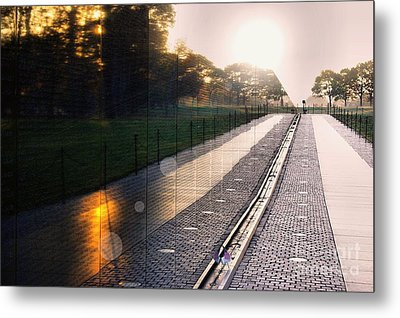 Metal Print featuring the photograph The Vietnam Wall Memorial  by John S