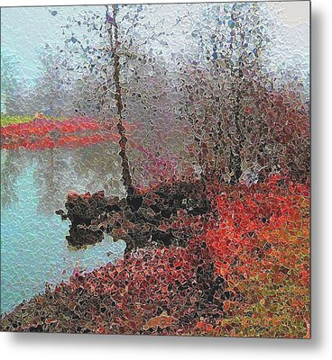 The View Across The Rideau On A Foggy Morning Metal Print by Mario Carini