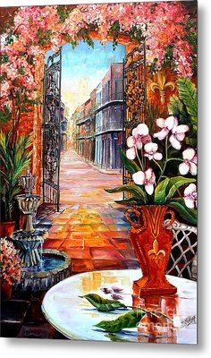 The View From A Courtyard Metal Print by Diane Millsap
