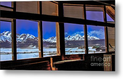 The View From The Sawtooth Valley Meditation Chapel Metal Print by Robert Bales