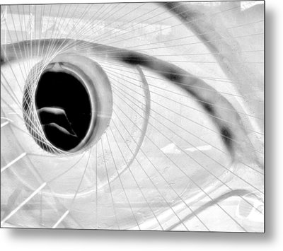 The View In The Eye Metal Print by Marcia L Jones