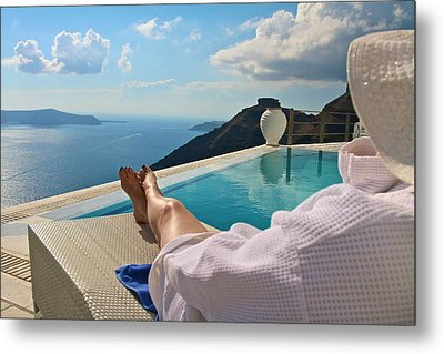 Metal Print featuring the photograph The View by John Babis