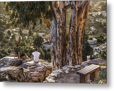 Metal Print featuring the digital art The View by Photographic Art by Russel Ray Photos