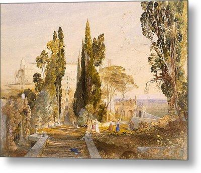 The Villa Deste, Tivoli, 1837 Metal Print