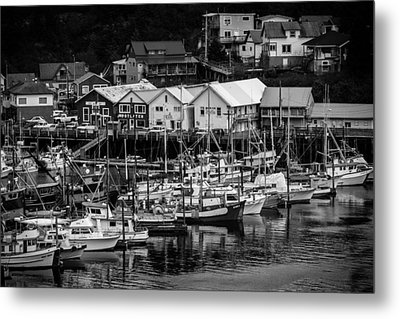 The Village Pier Metal Print by Melinda Ledsome