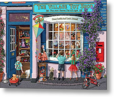 The Village Toy Shop Metal Print