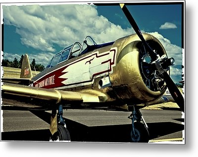 The Vintage North American T-6 Texan Metal Print by David Patterson