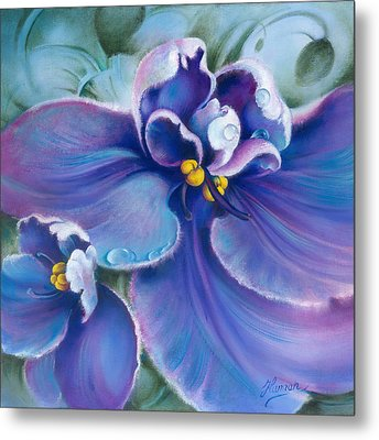 The Violet Metal Print by Anna Ewa Miarczynska