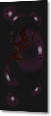 Metal Print featuring the digital art The Violet Void by Kevin McLaughlin