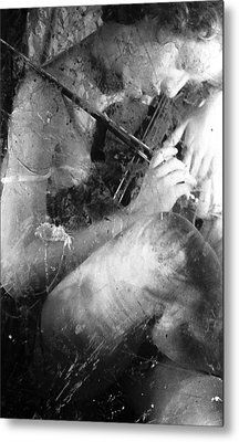 The Violin Player Metal Print by Sharon Coty