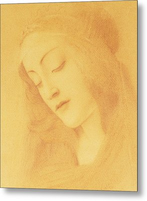 The Virgin After Botticelli Metal Print by Fernand Khnopff