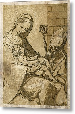 The Virgin And Child Metal Print by Aged Pixel