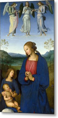 The Virgin And Child With An Angel Metal Print by Pietro Perugino