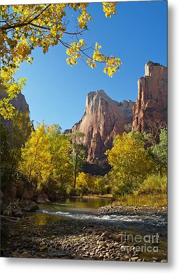 The Virgin River And The Court Of The Patriarchs Metal Print by Alex Cassels