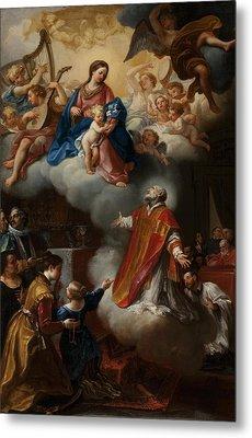 The Vision Of St. Philip Neri, 1721 Metal Print