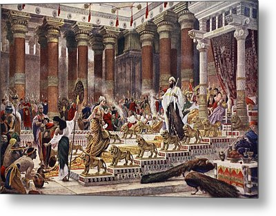 The Visit Of The Queen Of Sheba To King Metal Print