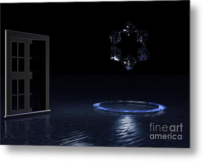 Metal Print featuring the digital art The Visitor by Jacqueline Lloyd