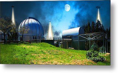 The Visitors At The Chabot Space And Science Center In The Hills Of Oakland California Dsc912 V1 Metal Print