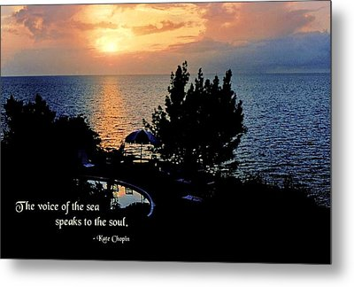 The Voice Of The Sea Metal Print by Mike Flynn